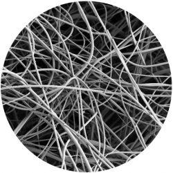 Fine fibers REM